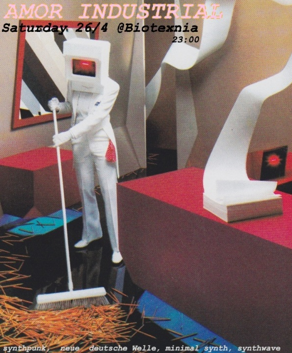26/4 στις 23:00 dj set synthpunk,minimal synth,synthwave...